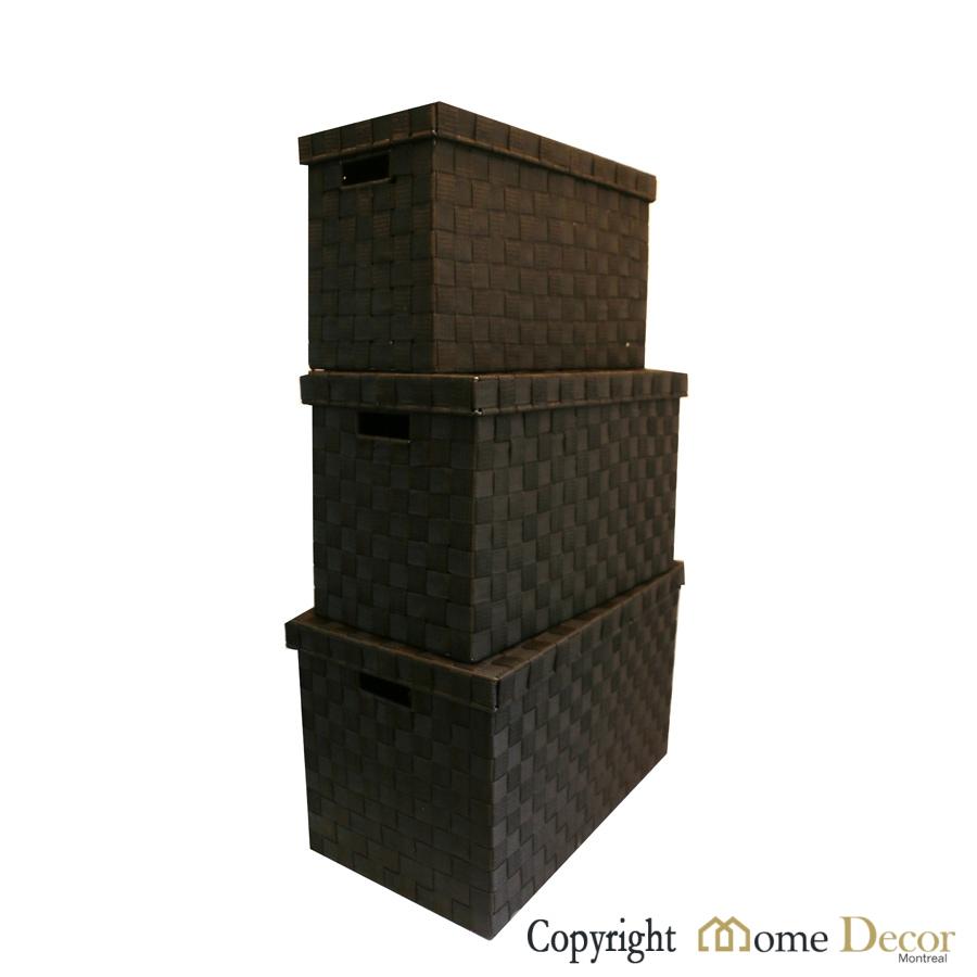 Home Decor Storage Boxes: Set Of 4 Nylon Storage Boxes